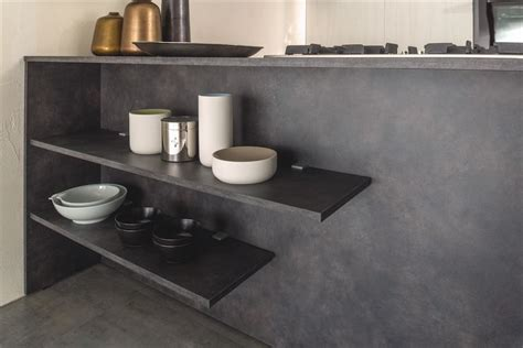 mensole cucina moderna trendy finitura cemento with mensole cucina moderna