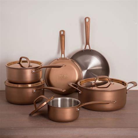 fleischer  wolf rome  piece tri ply cookware set copper cookware set cookware set