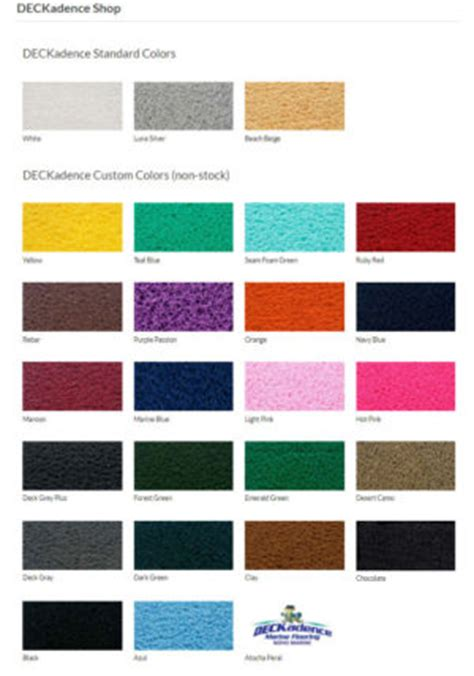deckadence marine flooring colors boat upgrades mastercraft seattle