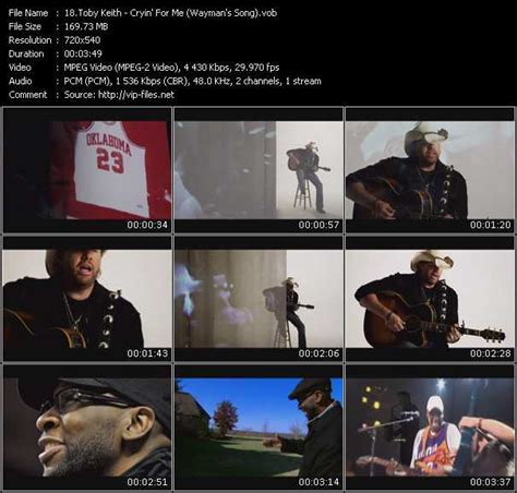 Toby Keith «cryin' For Me (wayman's Song)» Vob File