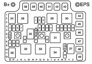 Saturn Ion  2003 - 2004  - Fuse Box Diagram
