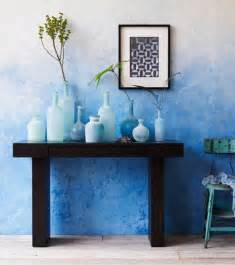 Blue Ombre Wall Paint
