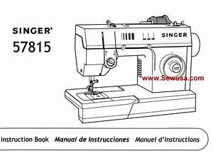 Singer 57815 Instruction Manual