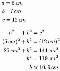 Satz Des Pythagoras A Berechnen : rechtwinkliges dreieck berechnen ~ Themetempest.com Abrechnung