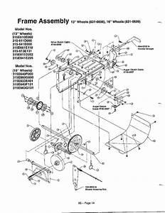 Mtd 315e640f000 Gas Snowblower Parts