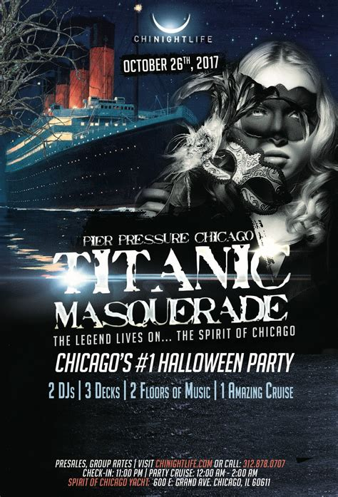 Chicago Party Boat Halloween by Titanic Masquerade Pier Pressure Chicago Halloween Yacht