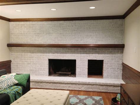 whitewash brick fireplace how to whitewash a brick wall or fireplace house