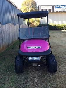 Pink Club Car Precedent Golf Cart