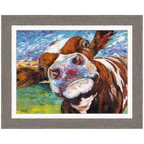 Curious Cow I Framed Print