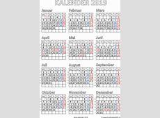 Kalender 2019 utskriftsvennlig Gratis utskriftsvennlig PDF