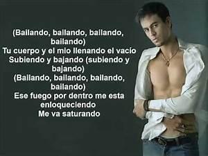bailando Enrique Inglesias + testo - YouTube