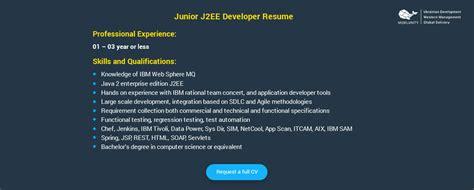 Sle Cover Letter For Java Developer by Junior Java Developer In Singapore The Best