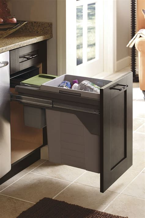 Cabinets Interior by Base Wastebasket Cabinet With Compost Bin Kitchen Craft