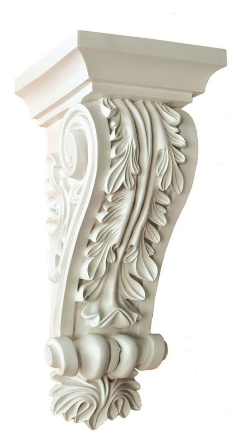Corbel Wall by Corbel Acanthus Leaf 12 X5x5 Inch Primed White Bracket For