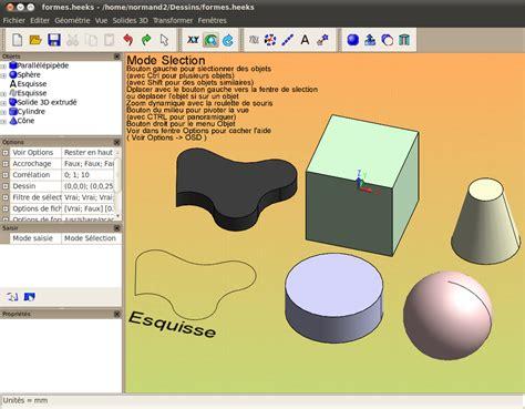 heekscad 3d logiciels libres framasoft