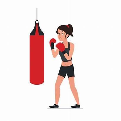 Boxing Clipart Female Clip Woman Illustrations Boxe