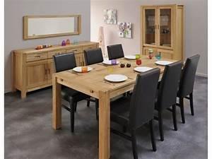 salle a manger bois massif chene huile margot With salle À manger contemporaine avec table sejour carrée avec rallonge
