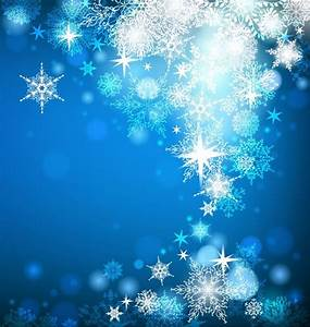 Christmas Card with Snowflakes on Blue Background | Free ...