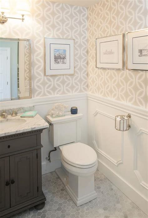 st james single vanity  powder room transitional