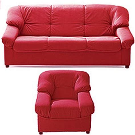 canap 233 3 places fixes fauteuil paloma tissu rouge