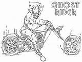 Rider Ghost Coloring Dessin Cartoon sketch template