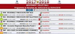 Résultats des 31 Mars et 01 Avril 2018 EDM MVBL Lys Lez