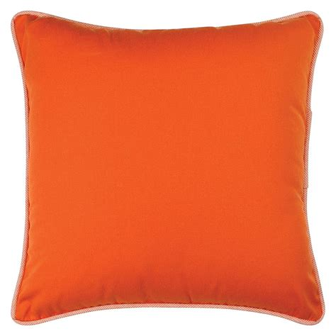 orange outdoor cushion 45x45cm hupper