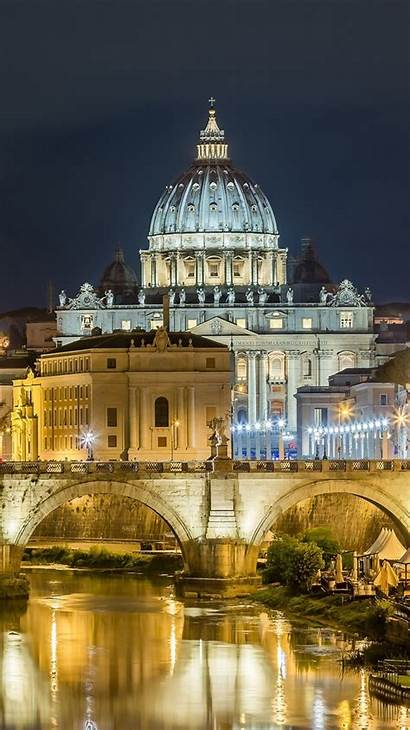 Roma Italy Iphone Night Rome Palace Bridge