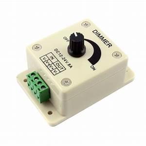 Led Dimmer Anschließen : 12 24 volt 8amp pwm knob rotary dimmer switch ~ Markanthonyermac.com Haus und Dekorationen