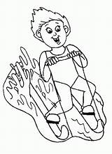 Coloring Water Skiing Slide Popular Library Greek Ancient Template Boat sketch template