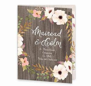rustic horizon mass booklet cover loving invitations With rustic horizon wedding invitations