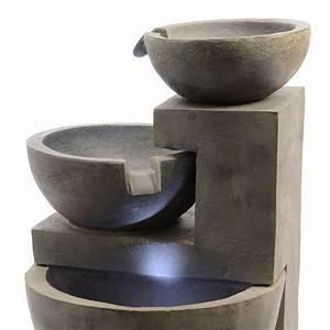Fontaine Circuit Fermé : fontaine design effet b ton decoration lumineuse eminza ~ Premium-room.com Idées de Décoration