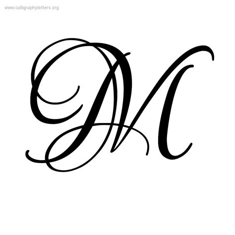 printable fancy letters 9 best images of printable calligraphy letters m