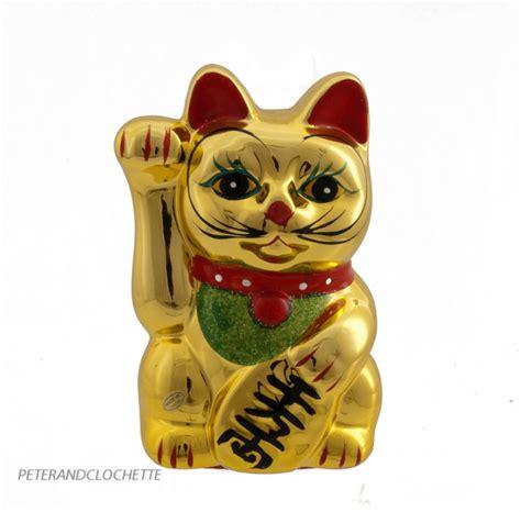 tirelire chat prosperite japonais maneki neko dore chat porte bonheur achat chat porte