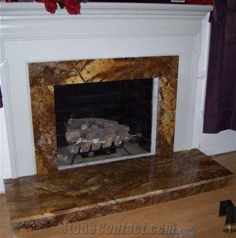 Fireplace in Magma Gold Granite from United States