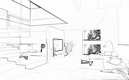 Sketch Interior Drawing Sketches 3d Bedroom Modern