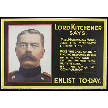 Collection Kitchener by Lord Kitchener Says Enlist Today Poster V A Search
