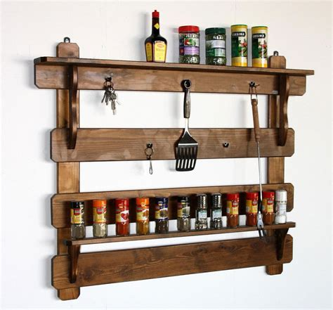 regal cuisine massivholz küchenregal gewürzregal gewürzboard fichte