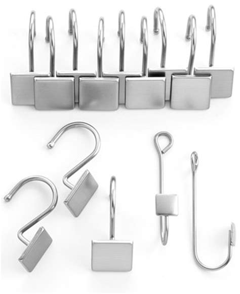 charter club hook and hold square shower curtain rings and