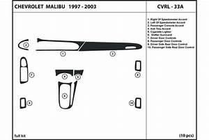 2002 Chevrolet Malibu Dash Kits