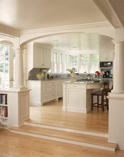 d馗oration cuisine ouverte blanc armoires de cuisine plancher clair zat3 appareils de cuisineappareils de cuisine