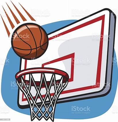 Basketball Hoop Cartoon Basket Dessin Panier Comic