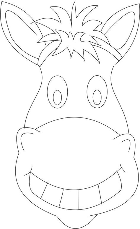 horse mask printable coloring page  kids