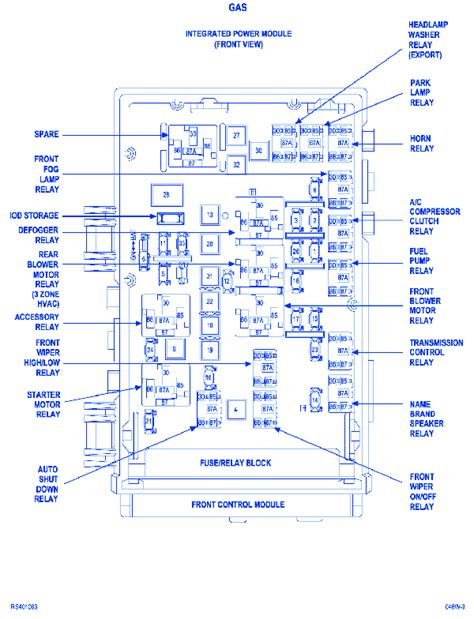 Dodge Caravan Power Module Fuse Box Block Circuit