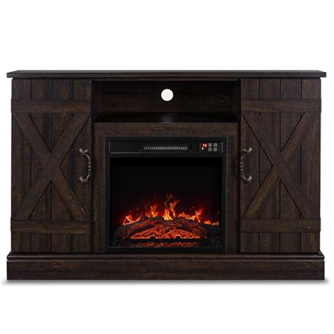 belleze infrared electric fireplace tv stand entertainment