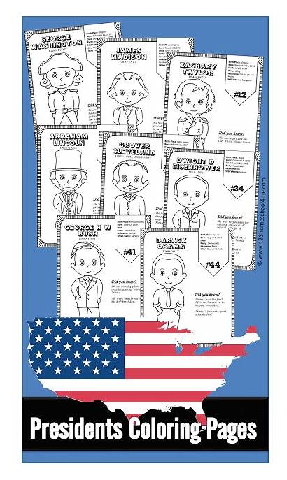Presidents Coloring Pages Printable Worksheets Printables Sheets