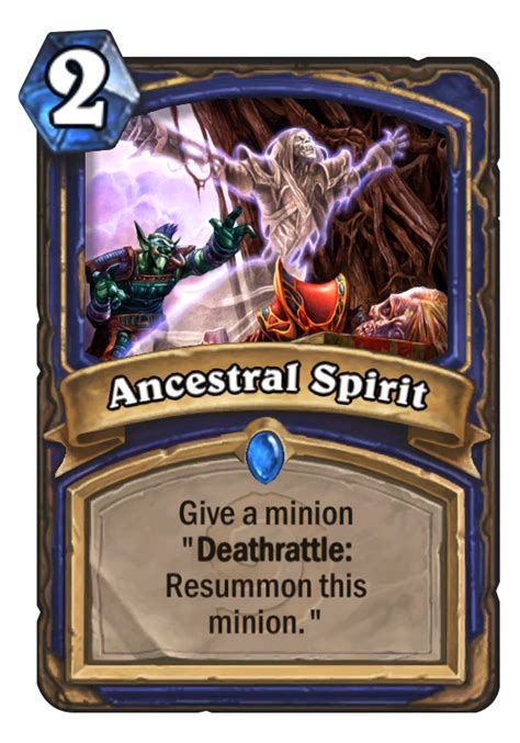 shaman deck kft ancestral spirit hearthstone card