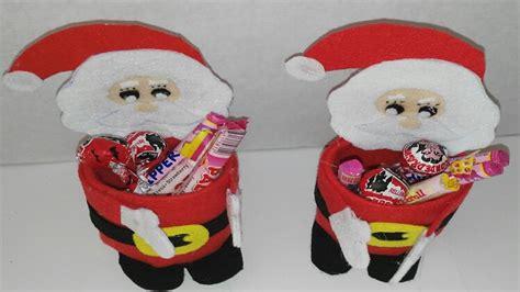 como hacer dulcero de papa noel con botellas de plastico adornos navide 241 os tutorial manualidades