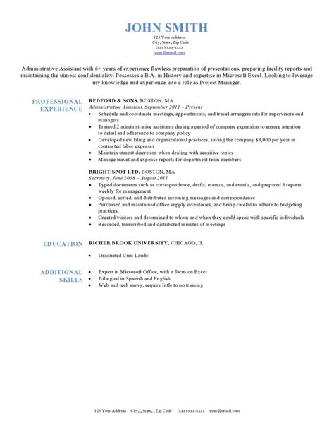 Preferred Resume Format by Expert Preferred Resume Templates Resume Genius
