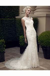 mermaid high neck illusion back lace wedding dress court train With high neck lace wedding dress